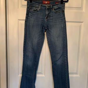 Woman's lucky brand Sophia straight jeans